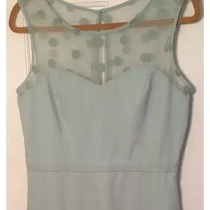 Size 14 Lauren Conrad Dress Green Sheath Cap/SL